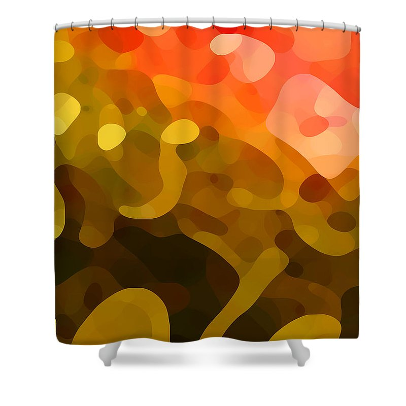 Abstract Shower Curtain featuring the painting Spring Day by Amy Vangsgard