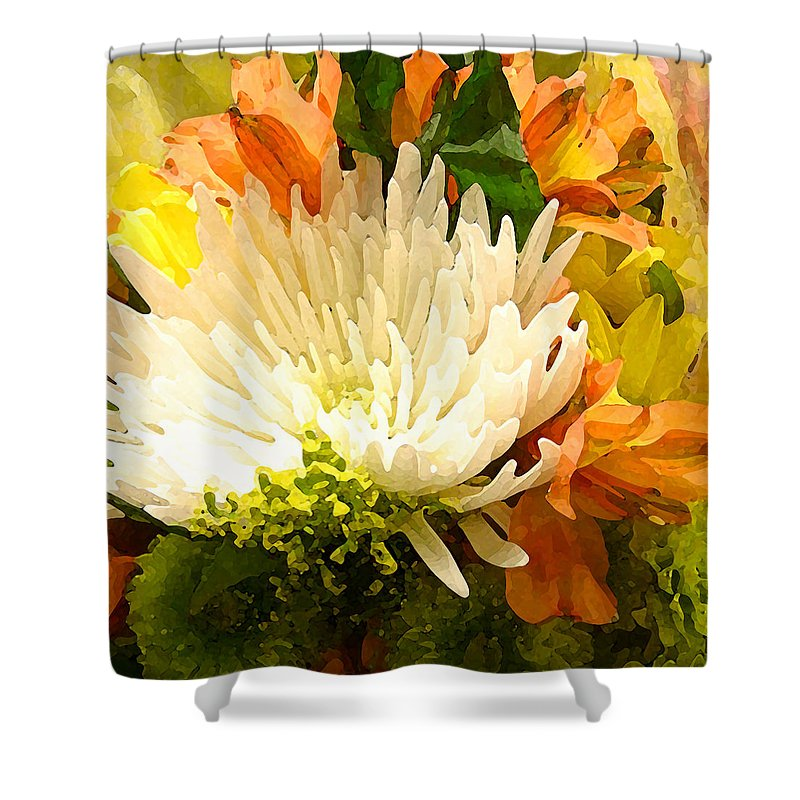 Roses Shower Curtain featuring the painting Spring Flower Burst by Amy Vangsgard