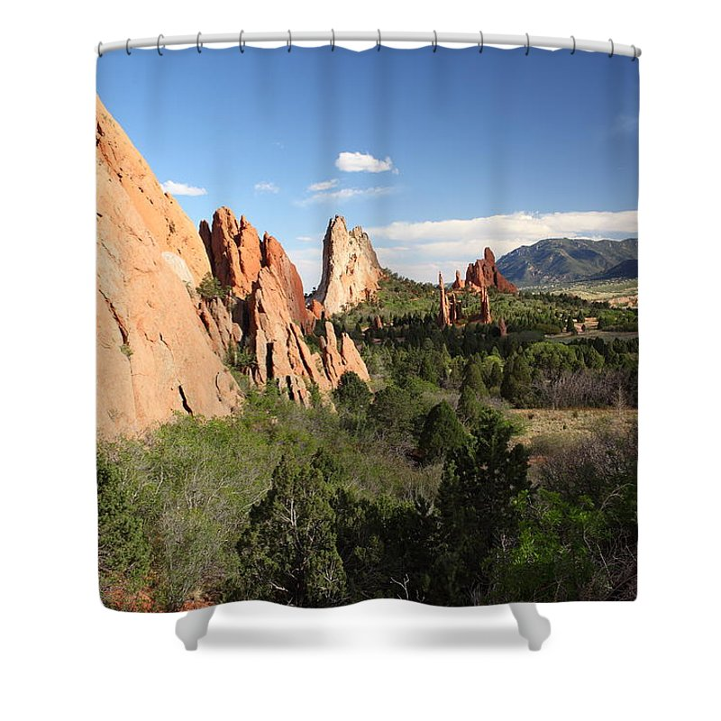 Colorado Shower Curtain featuring the photograph Spring Garden by Eric Glaser