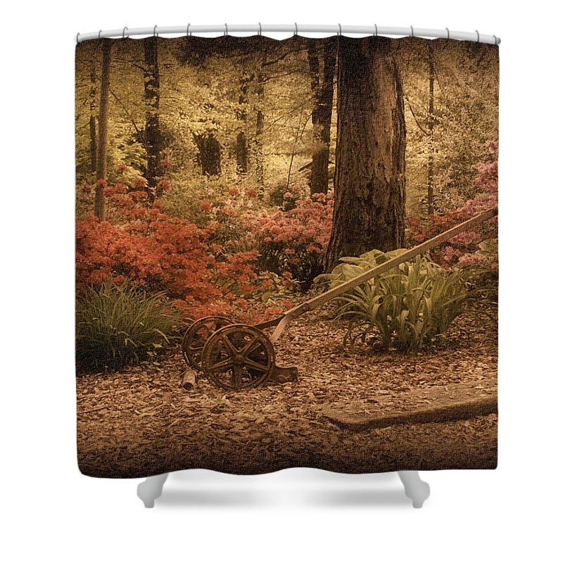 Lawn Mower Shower Curtain featuring the photograph Spring Garden by Sandy Keeton