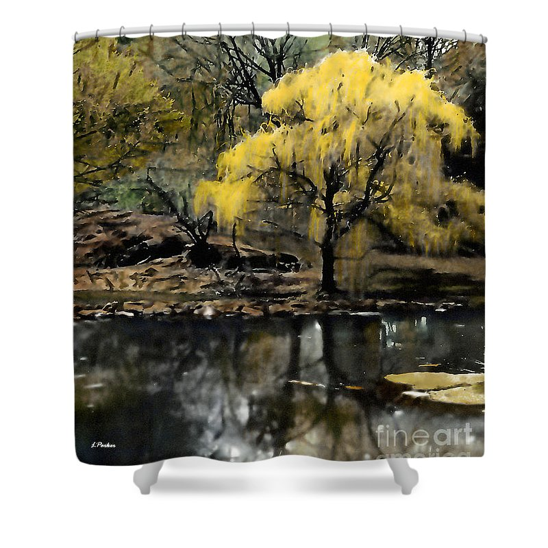 Abstract Shower Curtain featuring the photograph Spring In Central Park Nyc by Linda Parker