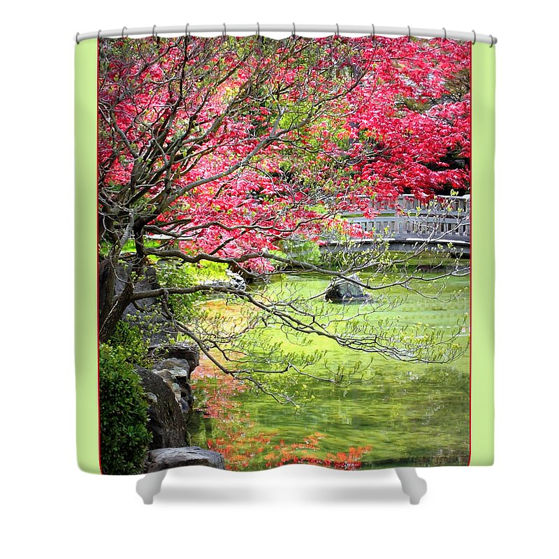 Japanese Garden Shower Curtain featuring the photograph Spring Is In The Air by Carol Groenen