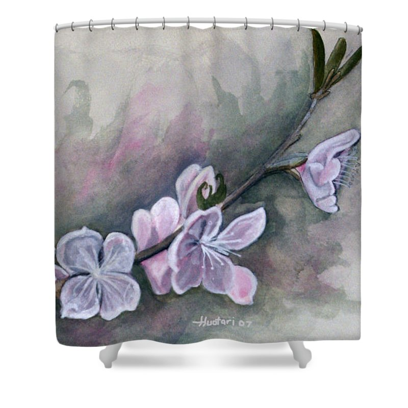Rick Huotari Shower Curtain featuring the painting Spring Splendor by Rick Huotari