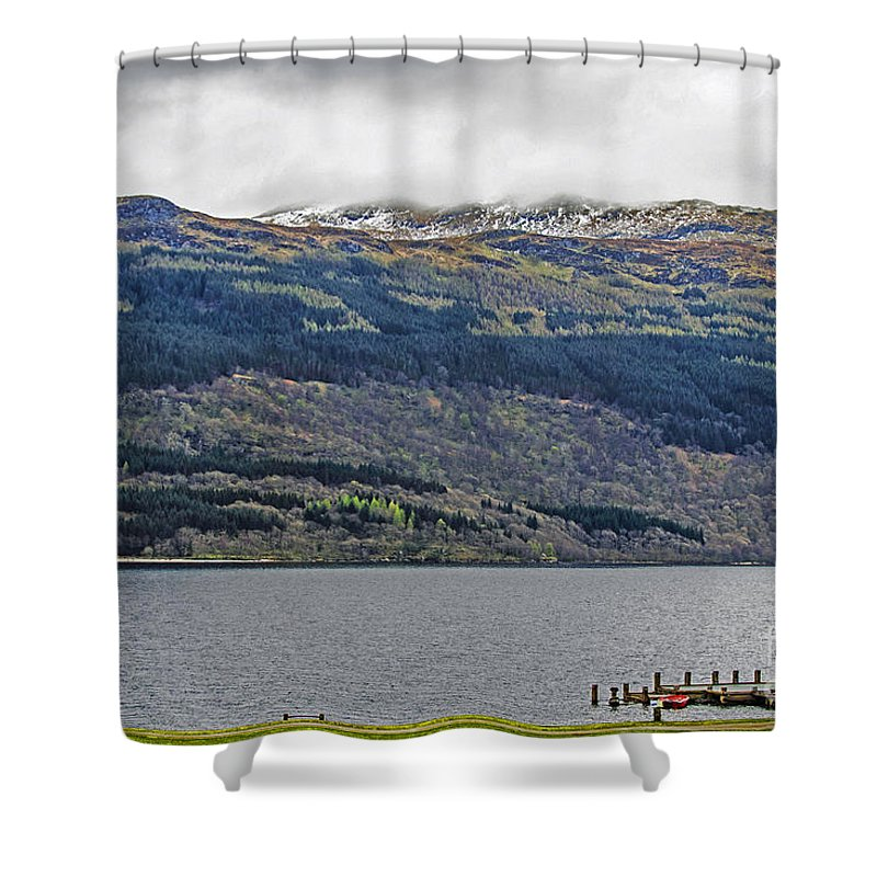 Travel Shower Curtain featuring the photograph Spring Storm Over Loch Lomond by Elvis Vaughn