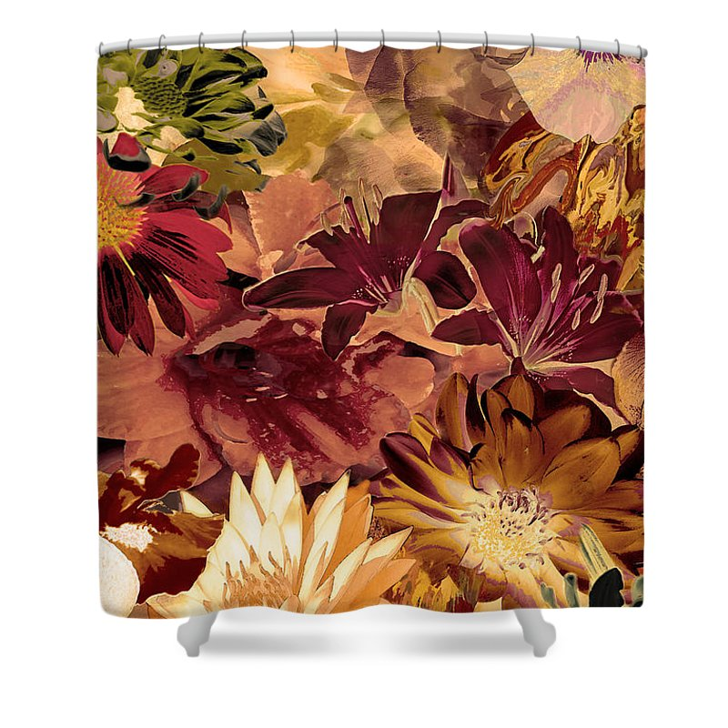 Springtime Shower Curtain featuring the digital art Springtime Melody Two by Paul Gentille
