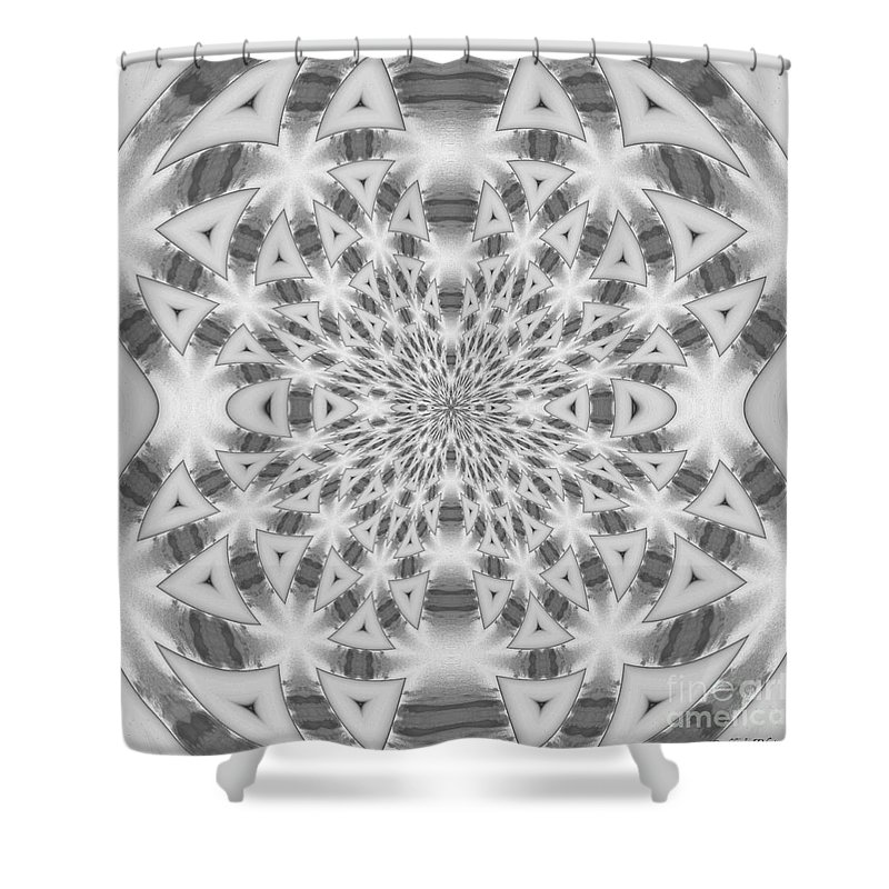 Abstract Shower Curtain featuring the photograph Square Abstract V by Debbie Portwood