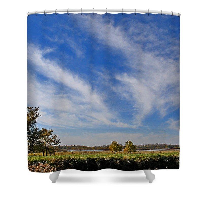 Landscape Shower Curtain featuring the photograph Squaw Creek Landscape by Steve Karol