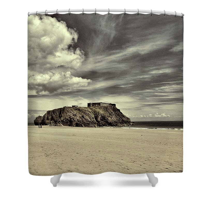 St Catherines Island Shower Curtain featuring the photograph St Catherines Island 6 by Steve Purnell