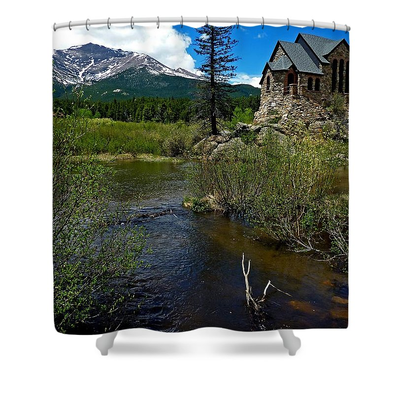 Shower Curtain featuring the photograph Church On The Rock by George Tuffy