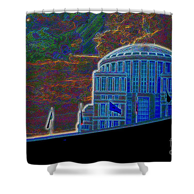 The Judicial Learning Center Shower Curtain featuring the photograph St. Louis Art #1 by Alan Look