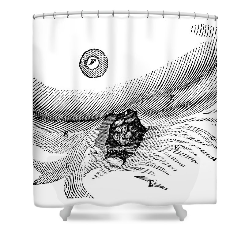 1833 Shower Curtain featuring the photograph St. Martins Fistula by Granger