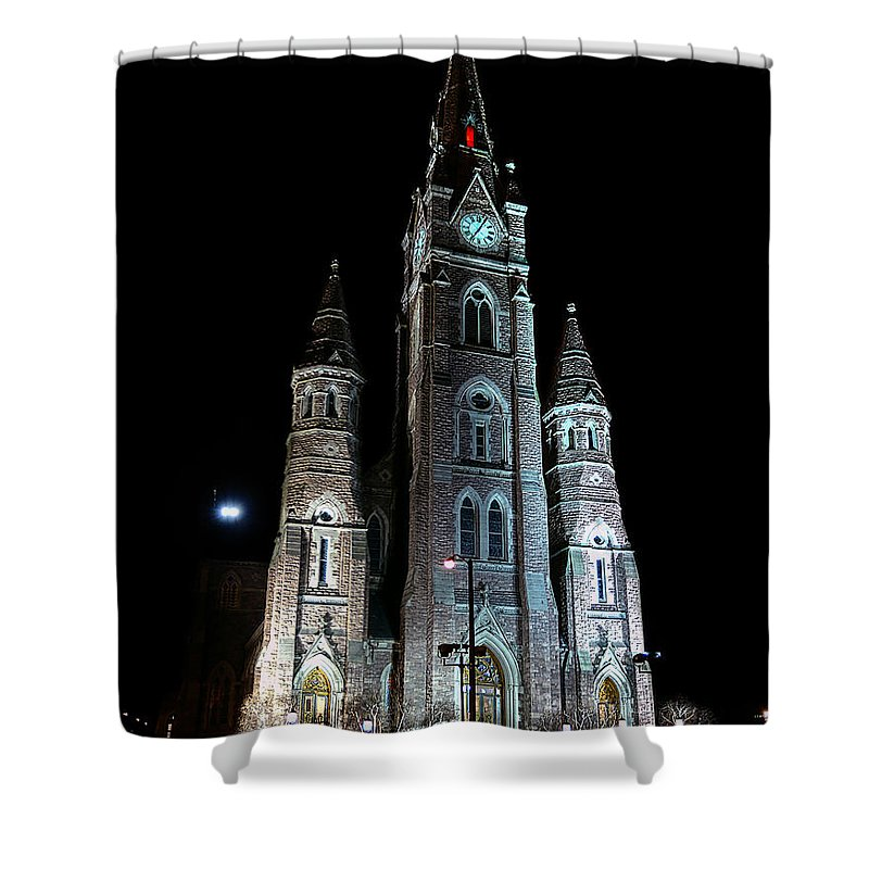 St Peter Cathedral Shower Curtain featuring the photograph St Peter Cathedral by Brian Fisher