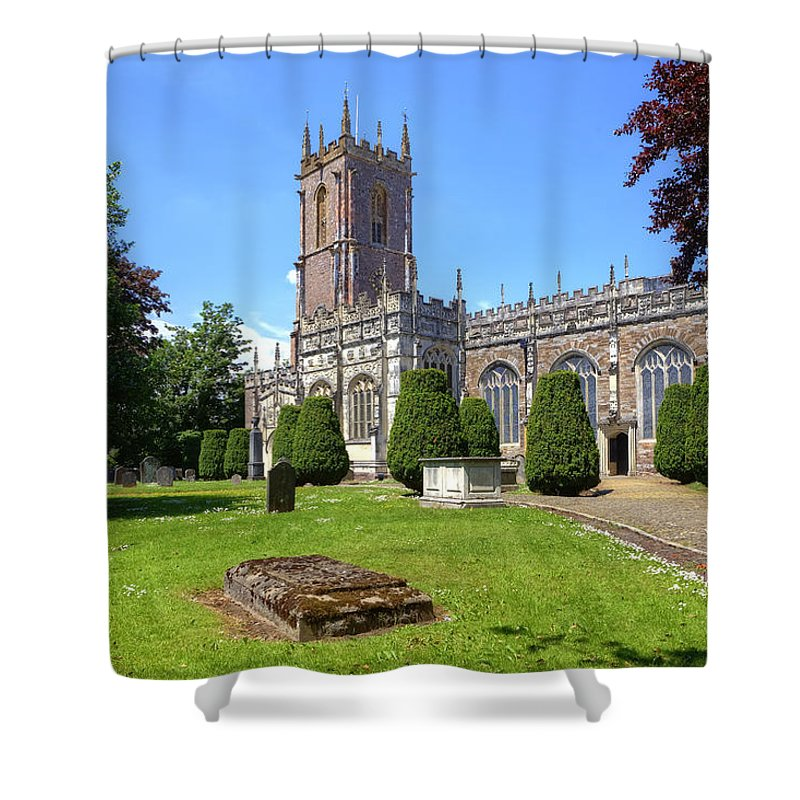 St Peter's Church Shower Curtain featuring the photograph St Peter's Church - Tiverton by Joana Kruse