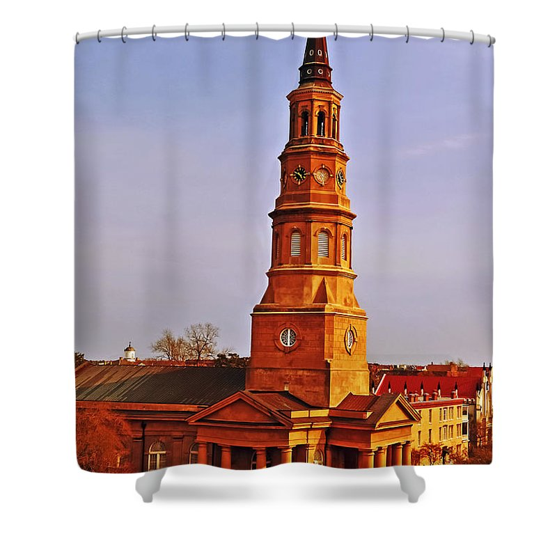 Travel Shower Curtain featuring the photograph St Phillips by Elvis Vaughn