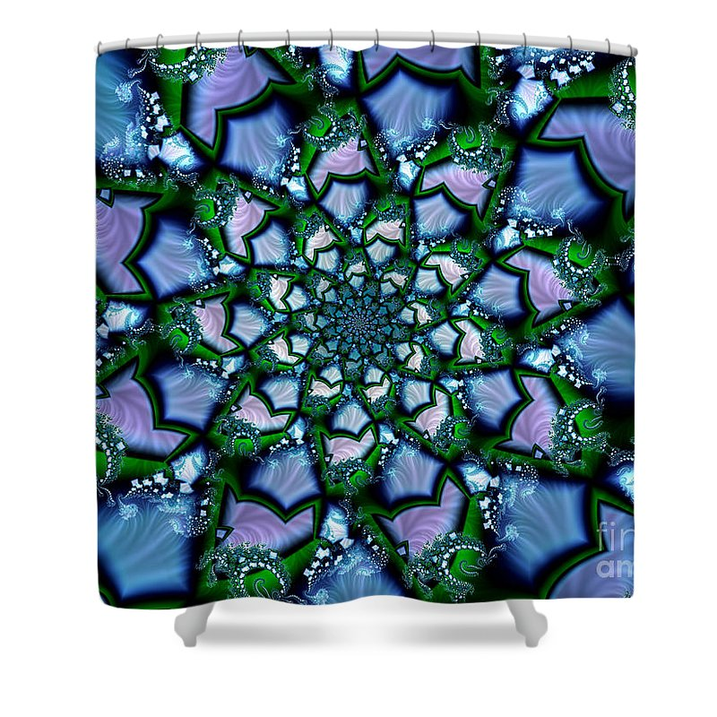 Stained Glass Shower Curtain featuring the digital art Stained Glass by Kimberly Hansen
