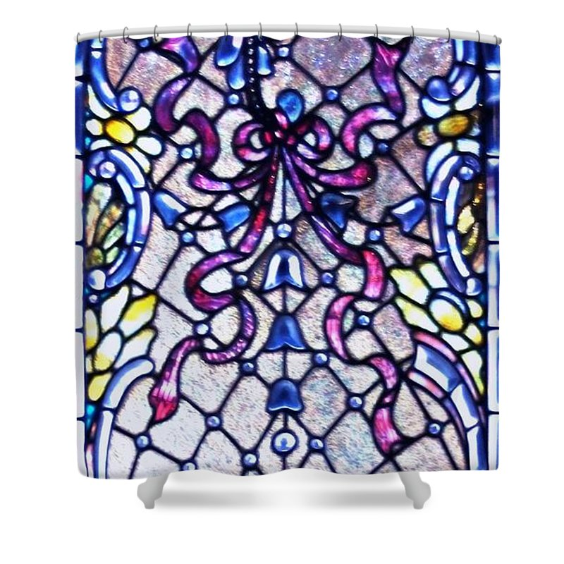 Stained Shower Curtain featuring the photograph Stained Glass Window by Kathleen Struckle