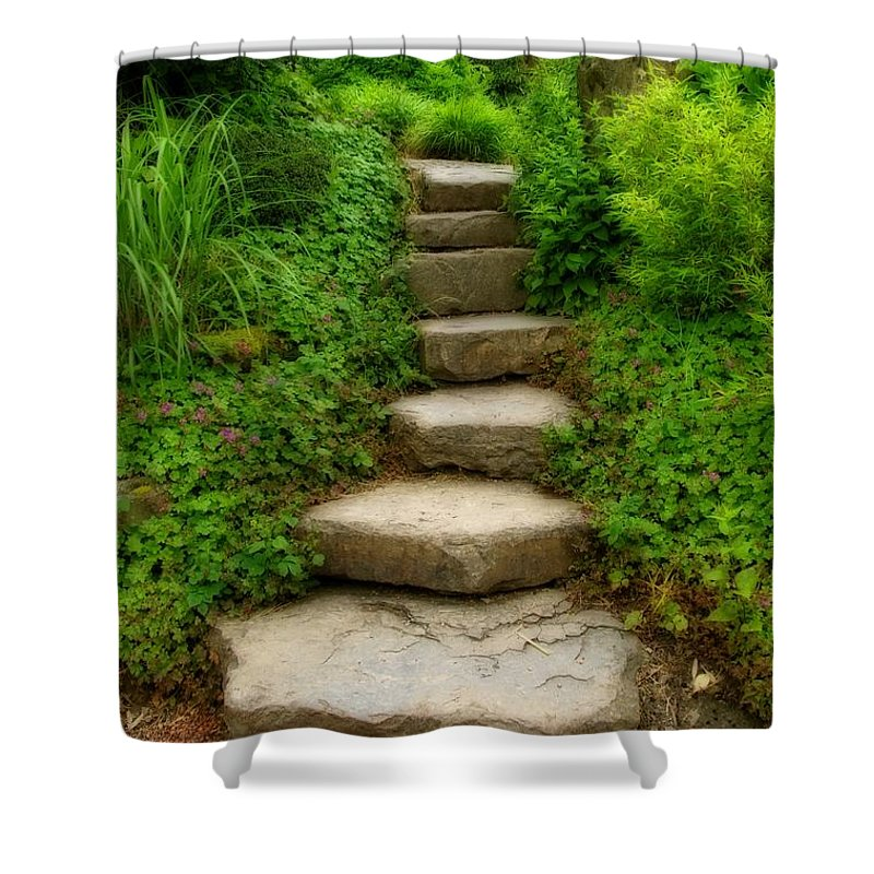 Stairs Shower Curtain featuring the photograph Stairs by Gabi Siebenhuehner