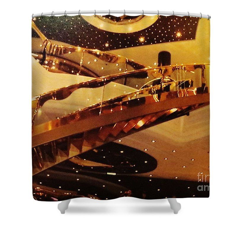 Stairs Shower Curtain featuring the photograph Stairs To The Stars by Tim Townsend