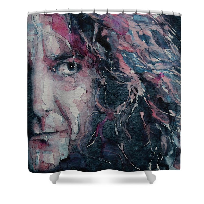 Robert Plant Shower Curtain featuring the painting Stairway To Heaven by Paul Lovering