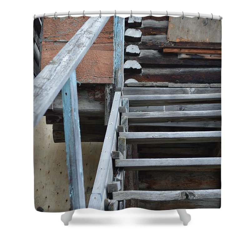 Stairway To Heaven Shower Curtain featuring the photograph Stairway To Humdrum by Brian Boyle