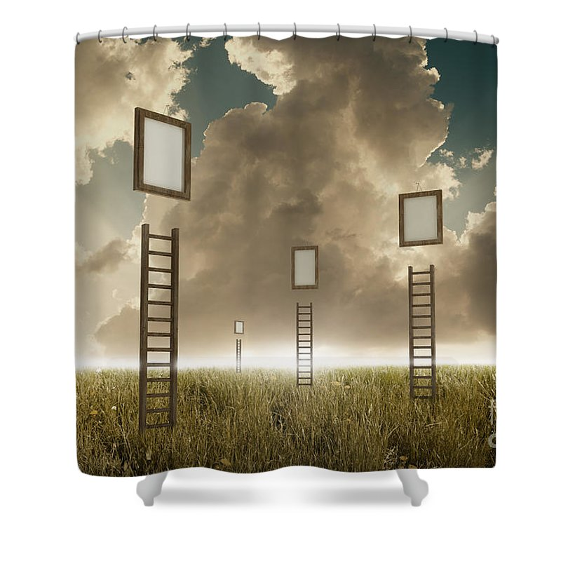 Stairway Shower Curtain featuring the photograph Stairway To Sky by Giordano Aita