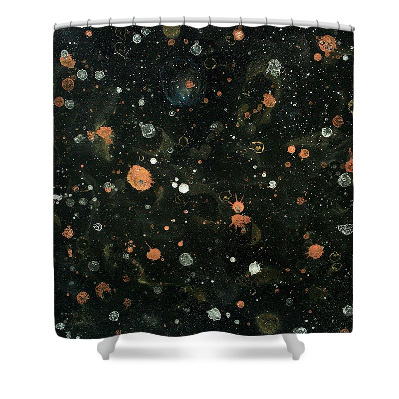 Comets Shower Curtain featuring the painting Star Nursery 8051 by Ric Bascobert