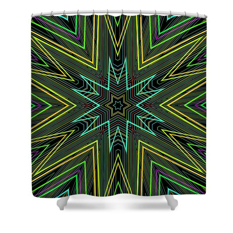 Artmatic Shower Curtain featuring the digital art Star Of Threads by Hakon Soreide