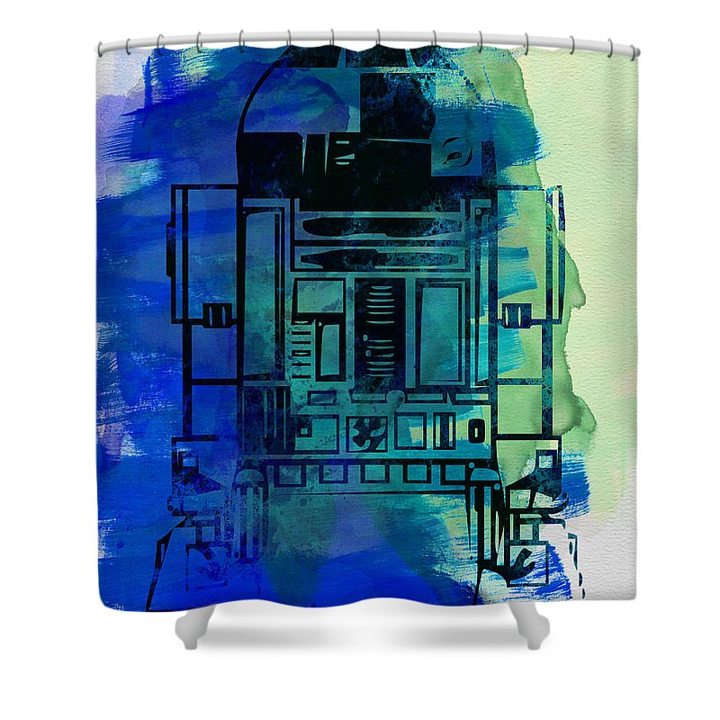 Star Wars Shower Curtain featuring the painting Star Warriors Watercolor 4 by Naxart Studio