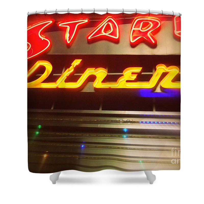 Stardust Diner Shower Curtain featuring the photograph Stardust Diner - New York City by Miriam Danar