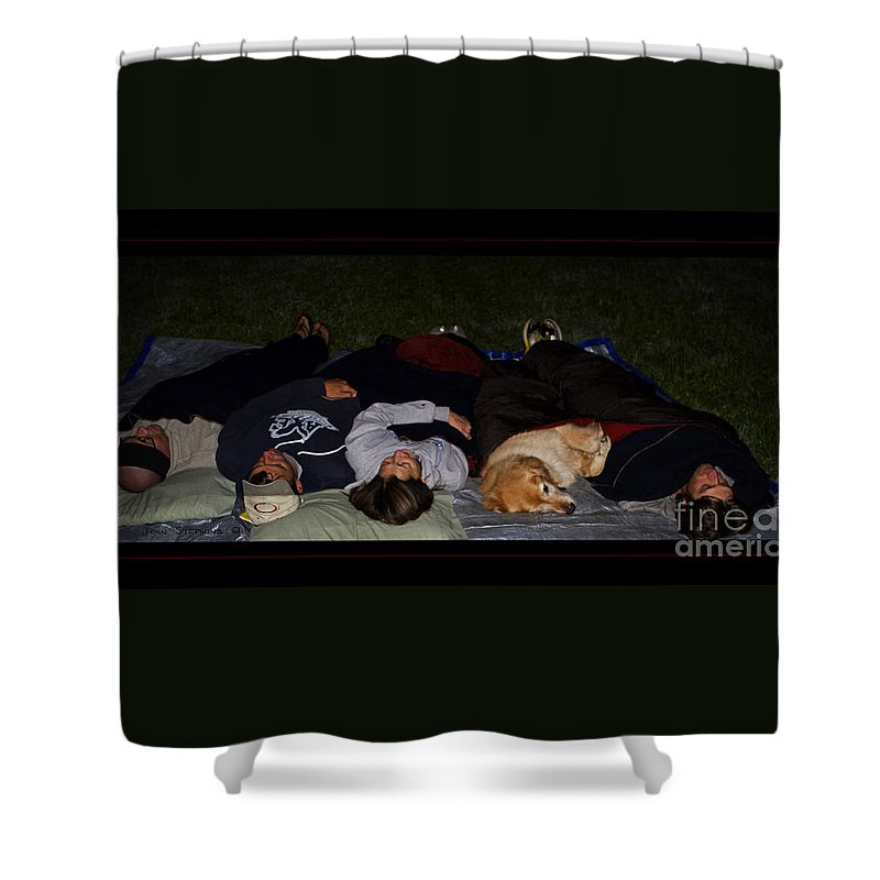 Stargazing Shower Curtain featuring the photograph Stargazing With Chucky by John Stephens