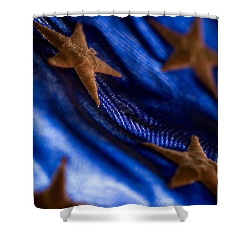 United States Flag Shower Curtain featuring the photograph Stars by Craig Forhan