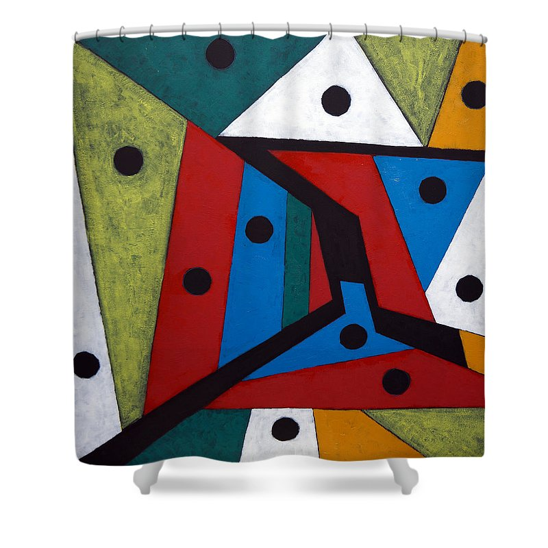 Acrylic Shower Curtain featuring the painting Stars by Sergey Bezhinets