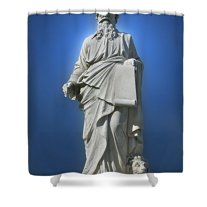 Statue Shower Curtain featuring the photograph Statue 23 by Thomas Woolworth