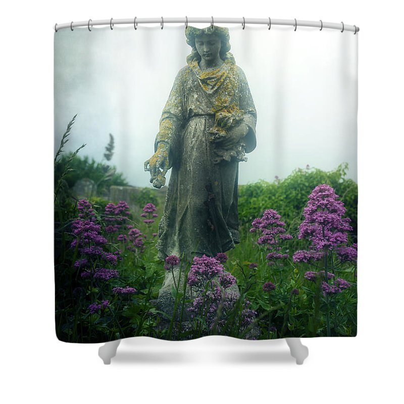 Girl Shower Curtain featuring the photograph Statue by Joana Kruse
