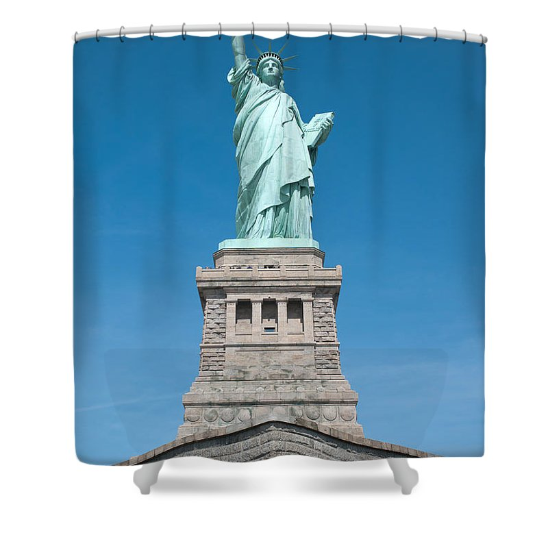 Clarence Holmes Shower Curtain featuring the photograph Statue Of Liberty II by Clarence Holmes