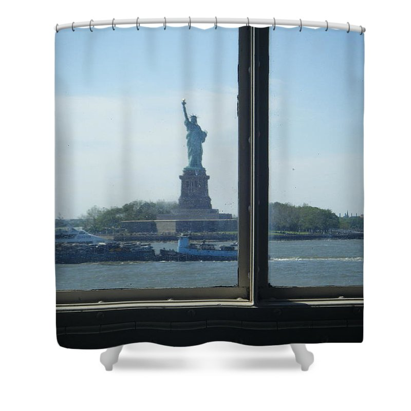 Statue Of Liberty Shower Curtain featuring the photograph Could It Be... by Jill Rucker Simmons