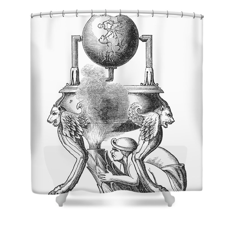 100 Shower Curtain featuring the photograph Steam Engine, C100 A.d by Granger