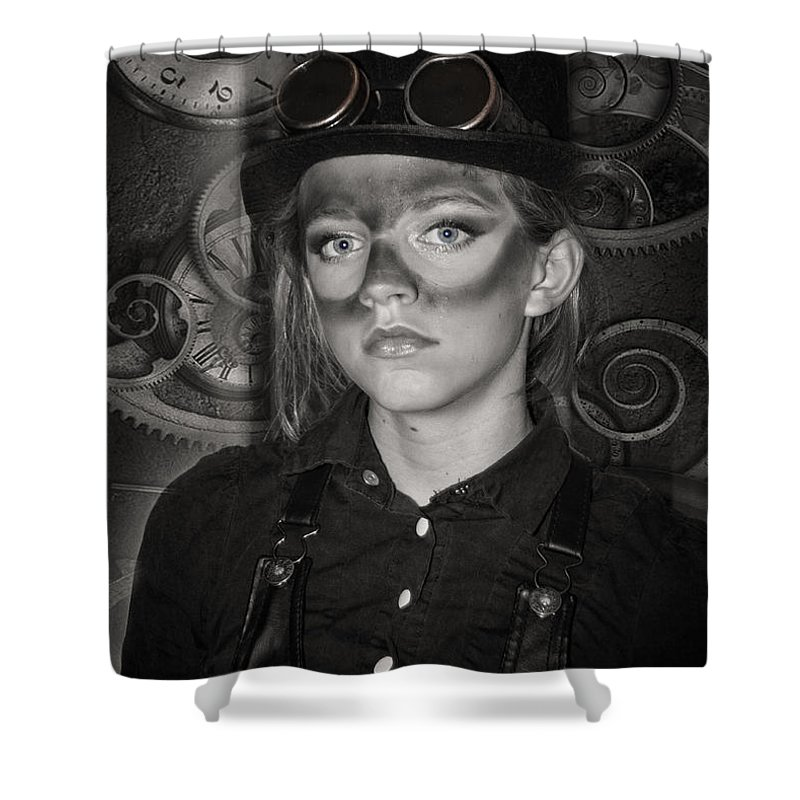 Girl Shower Curtain featuring the photograph Steampunk Princess by Diana Haronis