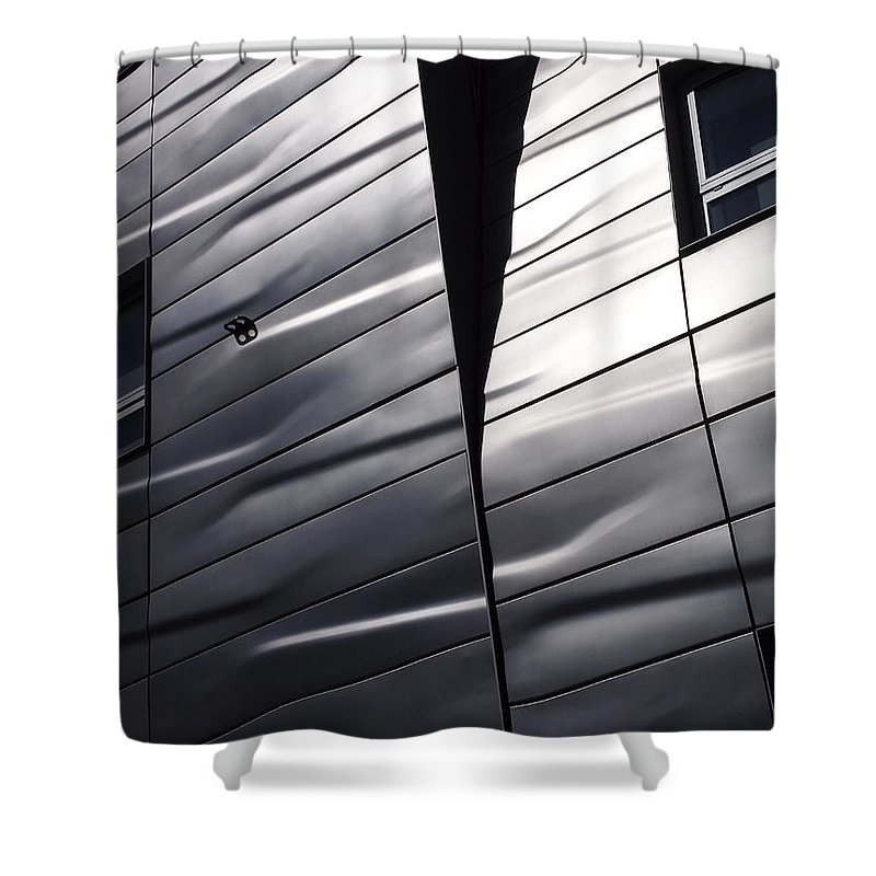 New York City Shower Curtain featuring the photograph Steel Currents by Rona Black