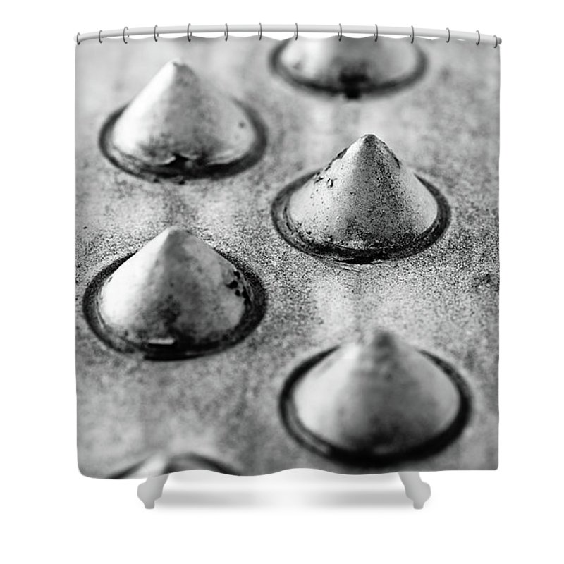 Aluminum Shower Curtain featuring the photograph Steel Kisses by Charles Dobbs