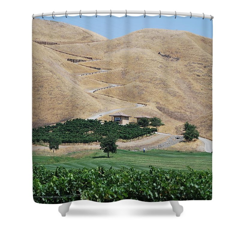 Steep Shower Curtain featuring the photograph Steep Golf Cart Path by Bradley Bennett