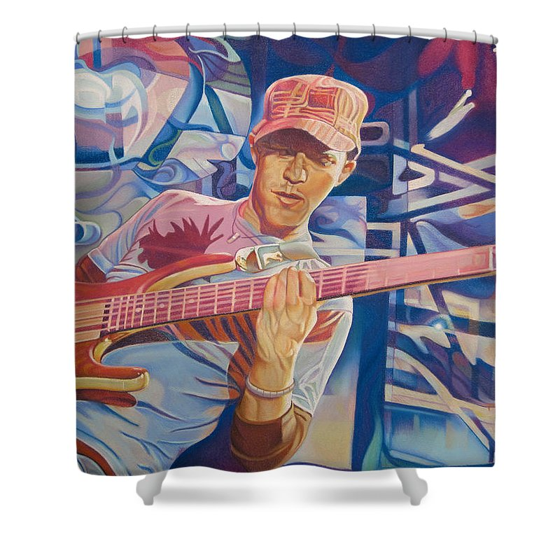 Syefan Lessard Shower Curtain featuring the drawing Stefan Lessard And 2006 Lights by Joshua Morton