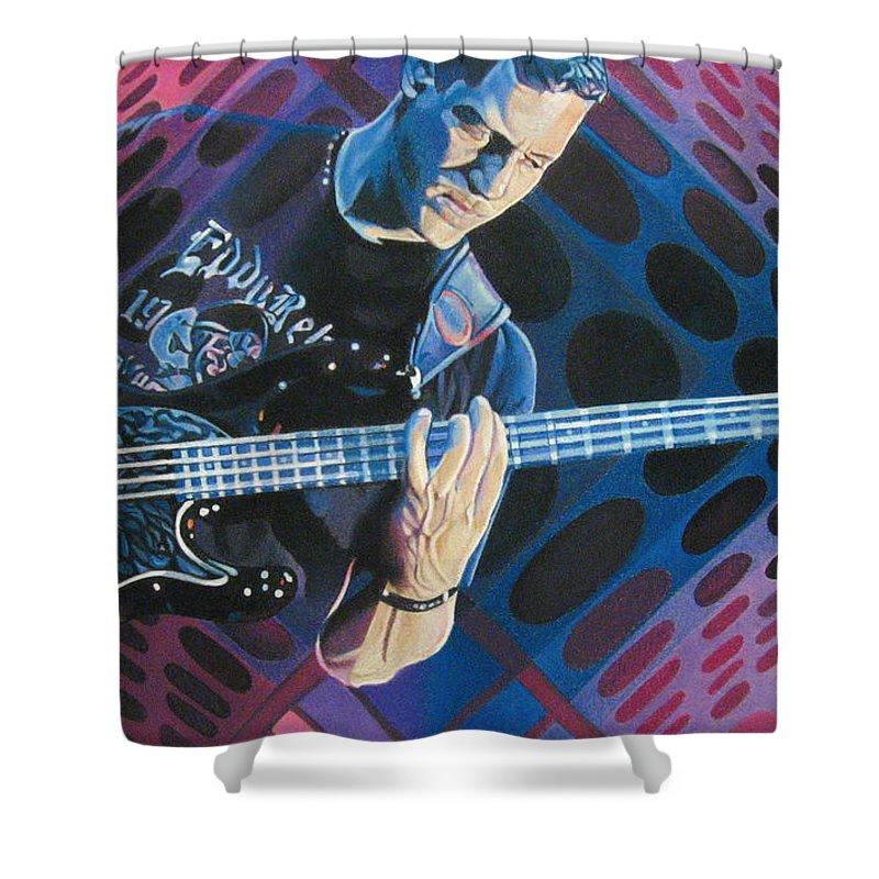 Stefan Lessard Shower Curtain featuring the drawing Stefan Lessard Pop-op Series by Joshua Morton