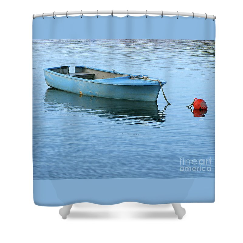 Rowboat Shower Curtain featuring the photograph Still Afloat by Ann Horn
