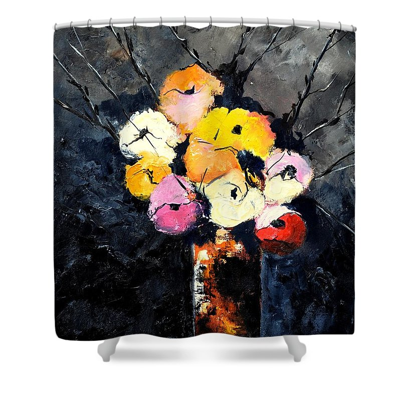 Stil Life Shower Curtain featuring the painting Still Life 563160 by Pol Ledent