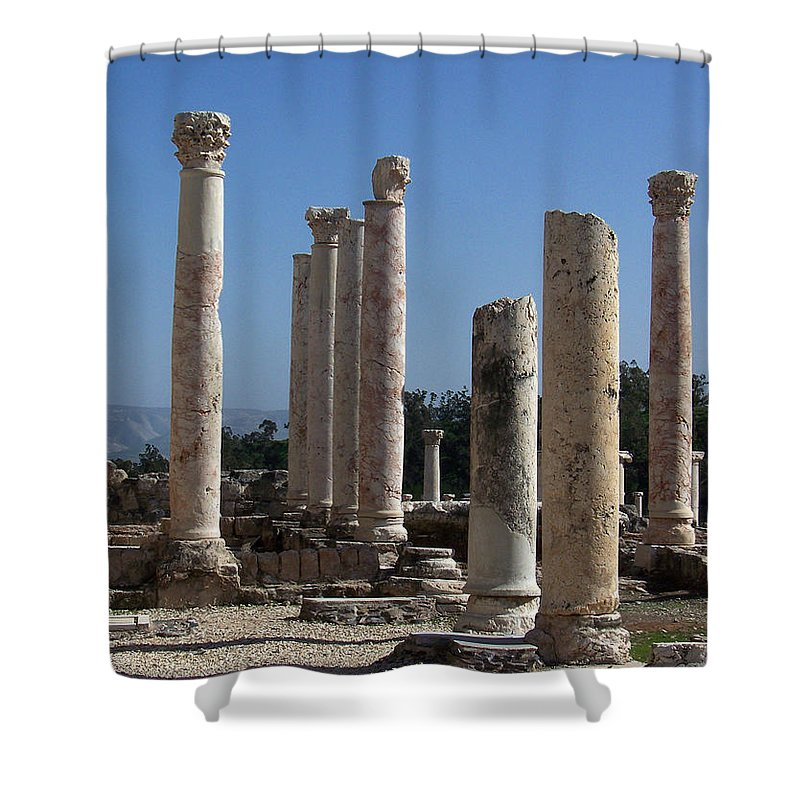 Israel Shower Curtain featuring the photograph Still Standing by Kathy McClure