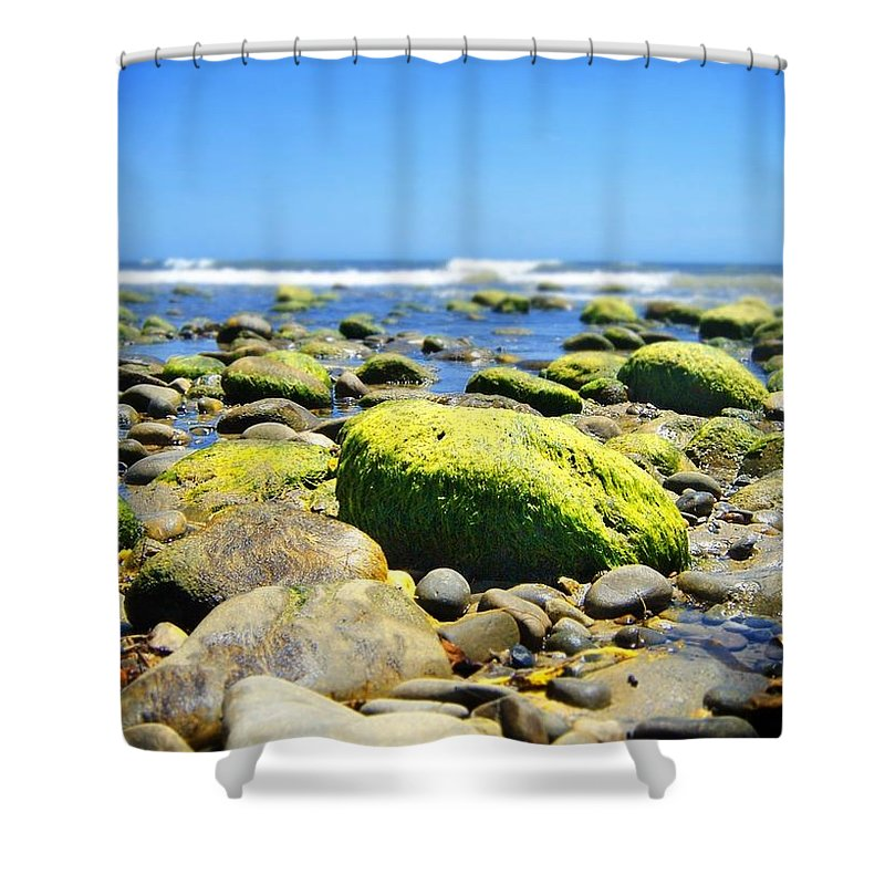 Stone Shower Curtain featuring the photograph Stone Beach by Henrik Lehnerer