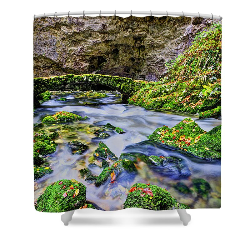 Scenic Shower Curtain featuring the photograph Stone Bridge by Ivan Slosar