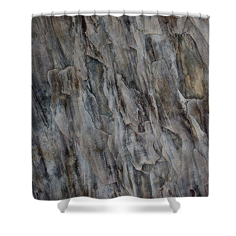 Linda Brody Shower Curtain featuring the photograph Stone I by Linda Brody
