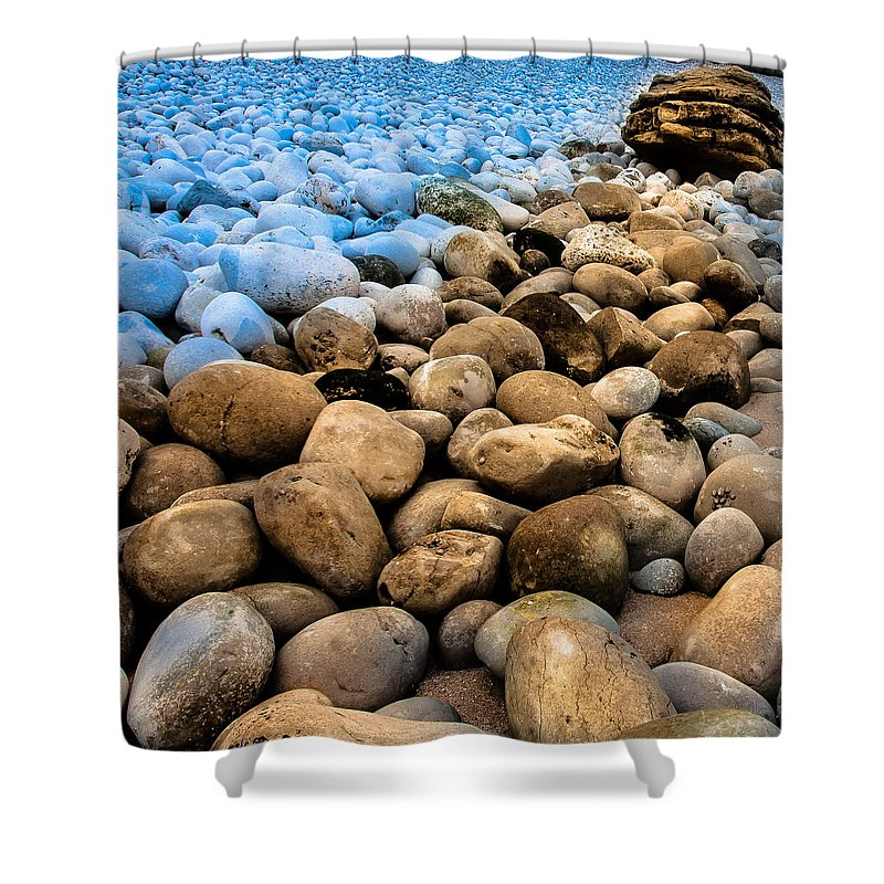 Nature Shower Curtain featuring the photograph Stone Path by Edgar Laureano